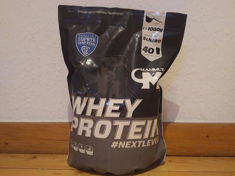 Die Verpackung des Mammut Whey Protein