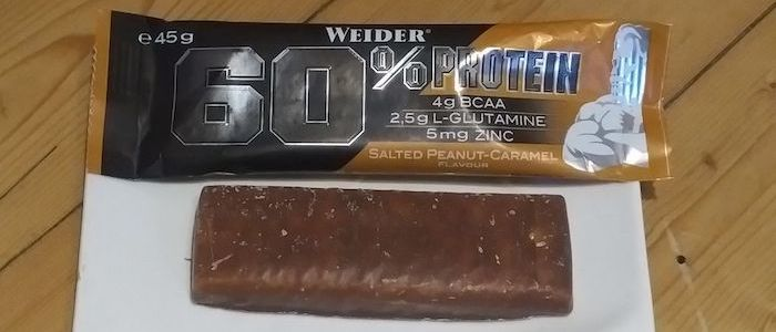 Weider 60% Protein Bar Test